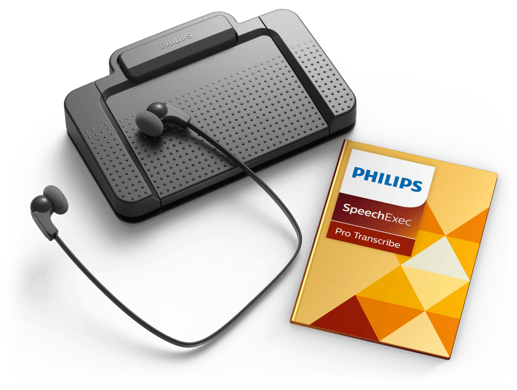 Philips SpeechExec Pro Transcription Set with SpeechExec Pro Transcribe 10