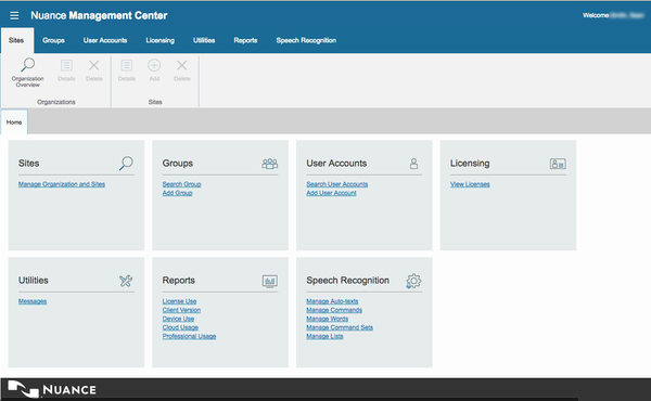 Nuance User Management Center - OLP Annual Subscription