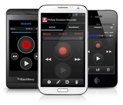 Philips Recorder App - for iPhone, Android &  BlackBerry 10 (Annual Subscription)