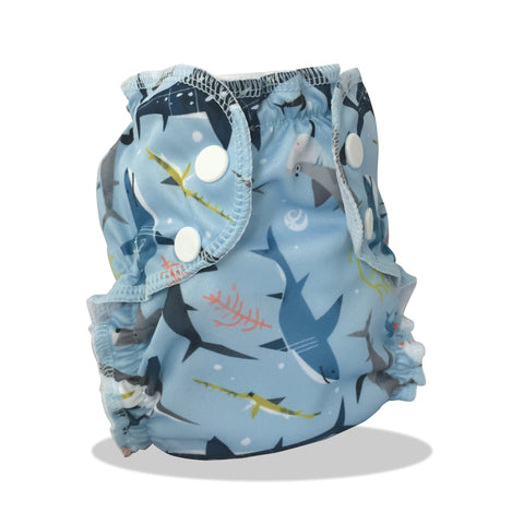 Washable Swim Diaper - The Shark Side