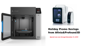 Afinia 3D Annual Holiday Sale on 3D Printers