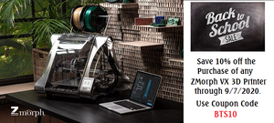 ZMorph 3D Printer Back-to-School Special!!