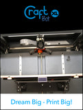 CraftBot XL 3D Printer - Includes 3 Free Spools of Filament!