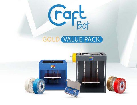 CraftBot Gold Value Pack - 3D Printer Bundle for Education