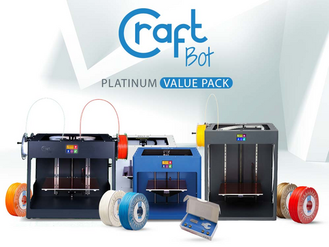 CraftBot Platinum Value Pack - 3D Printer Bundle for Education