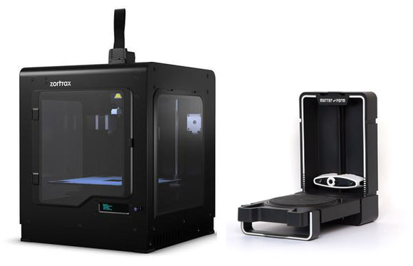 Zortrax M200 Pro + Matter and Form V2 3D Scanner Bundle Package