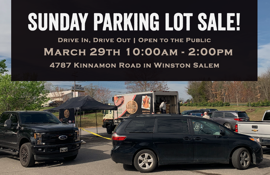 SUNDAY PARKING LOT SALE!