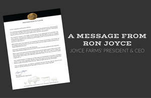 A Message from our President & CEO, Ron Joyce