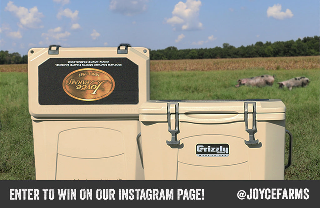Win a Grizzly® Cooler from Joyce Farms!