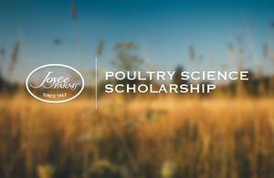 Joyce Farms 2016-17 Poultry Science Scholarship Recipient Announced!