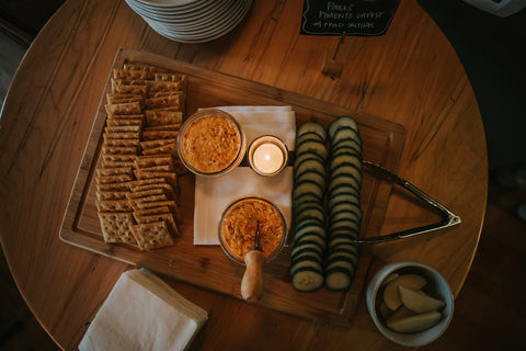 Poole's Pimento Cheese with Saltines