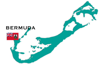 Bermuda map and flag