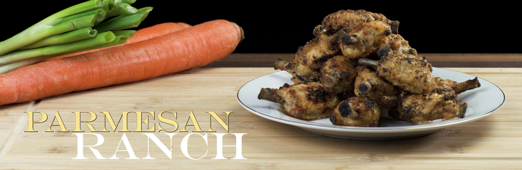 Cooked Parmesan Ranch Frenched MidJoint Wings from Joyce Farms