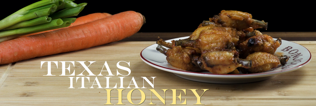 Cooked Texas Italian Honey Frenched MidJoint Wings from Joyce Farms