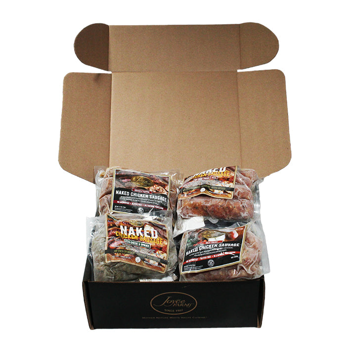 Savory Chicken Sausage Sampler Pack (4 packs of 4 oz. links)