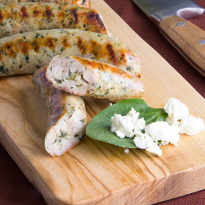 Spinach & Feta Chicken Sausages (8 packs of 4 oz. links)