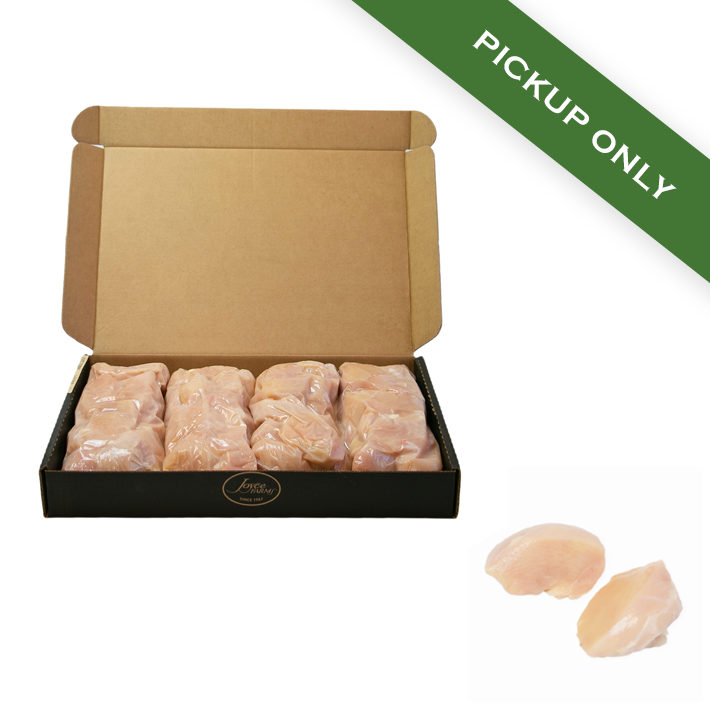 Naked Chicken Breast Medallions (18 lb. Case) - Pickup Only