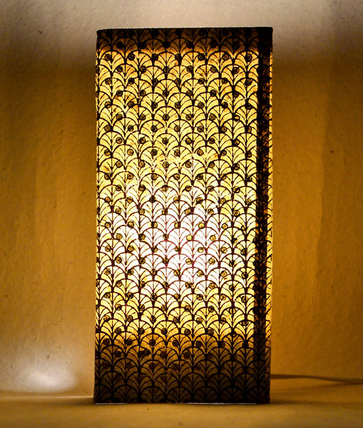 Block printed lamp-in-stationery set - Neel