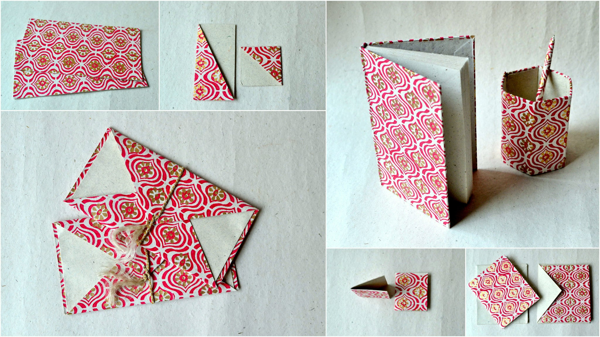Block printed lamp-in-stationery set-Rani