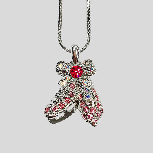 FIGURE SKATES PENDANT NECKLACE - #N055855E