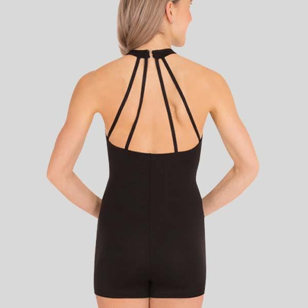 BODY WRAPPERS MOCK NECK HALTER SHORT-A-TARD - ADULT #BWP213
