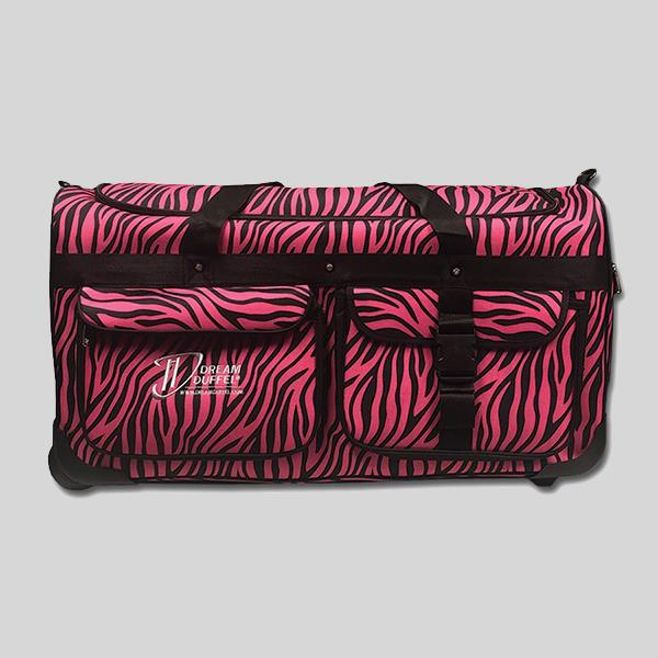 DREAM DUFFEL LIMITED EDITION LARGE PINK ZEBRA - #1600-ZEBRA