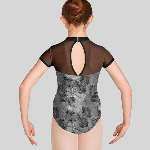 MIRELLA JASMINE CAP SLEEVE OPEN BACK LEOTARD - CHILD #M1534C