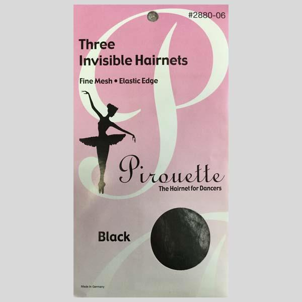 PIROUETTE BLACK HAIRNETS - #2880-06