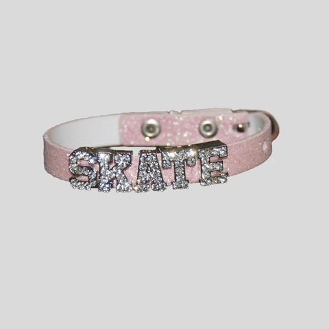 "FH2 LEATHER ""SKATE"" BRACELET, PINK - #AZ0041-6"