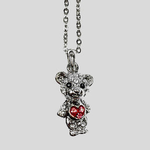 TEDDY BEAR PENDANT NECKLACE - #2990