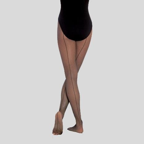 BODYWRAPPERS SEAMED FISHNET TIGHTS - ADULT #A62