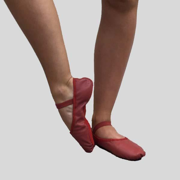 SO DANCA BOBBI BALLET SLIPPER RED - ADULT #BA14L