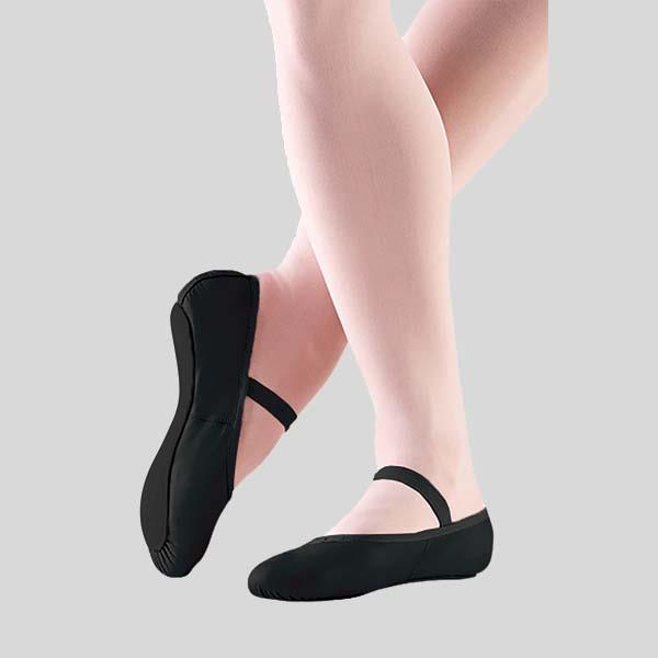 SO DANCA BOBBI BLACK BALLET SLIPPER - ADULT #BA14L