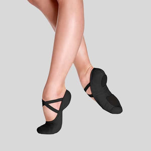SO DANCA BLISS BLACK BALLET SLIPPER - ADULT #SD16L