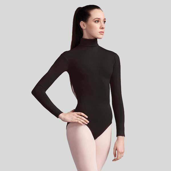 CAPEZIO TURTLENECK LONG SLEEVE LEOTARD - ADULT #TB41