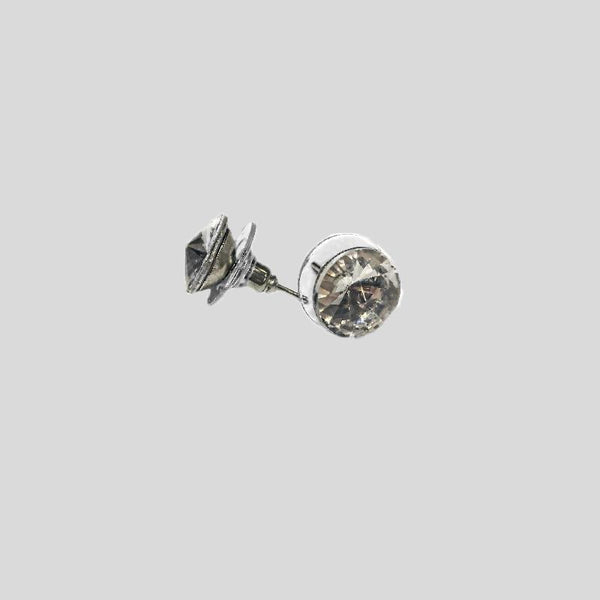 ELKA SINGLE STONE EARRING, SMALL, PIERCED - #SINGLESTONE