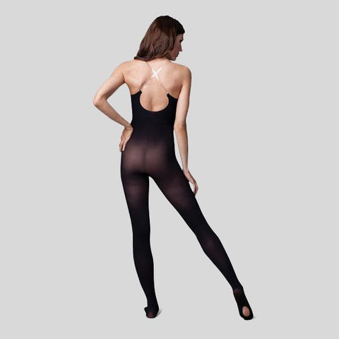 CAPEZIO TRANSITIONAL BODY TIGHT WITH CLEAR STRAPS- ADULT #1811