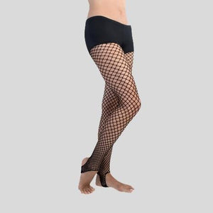 BODYWRAPPERS STIRRUP FISHNET TIGHTS - ADULT #A66