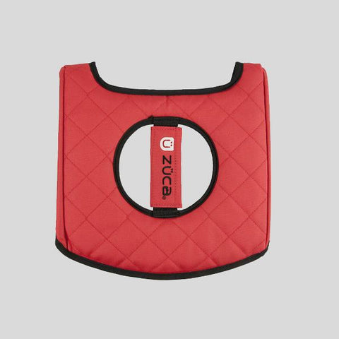 ZUCA SEAT CUSHION - BLACK / RED