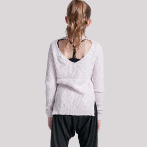 "YALIVTA ""NAVO"" OPEN BACK SWEATER, CHILD - #YAL162K"
