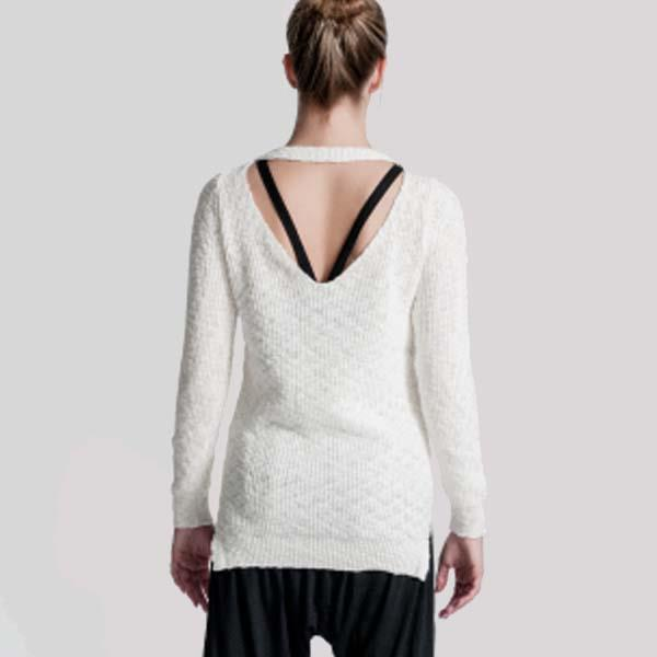 "YALIVTA ""NAVO"" OPEN BACK SWEATER, ADULT - #YAL162"