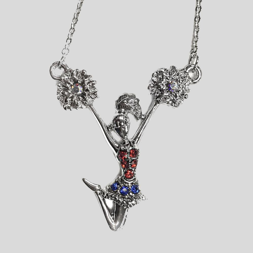 CHEERLEADER PENDANT NECKLACE