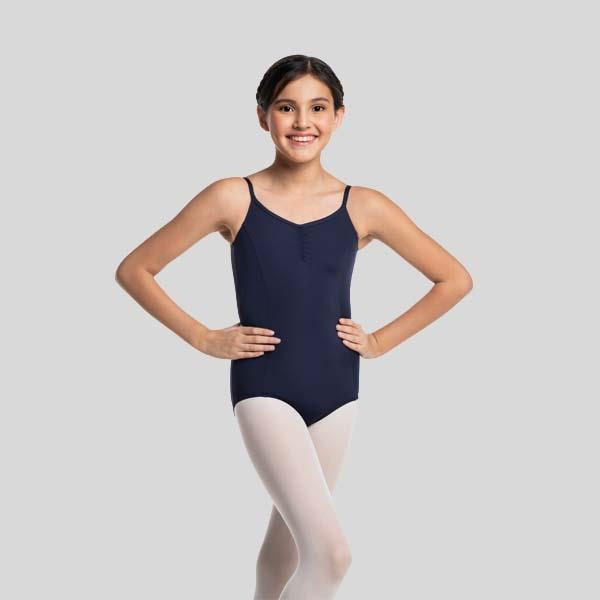 AINSLIEWEAR PRINCESS STRAP PINCHED FRONT LEOTARD - CHILD #101PG