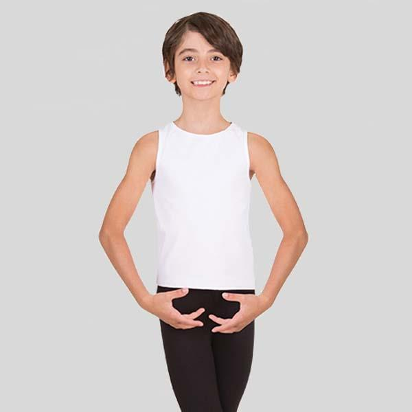 BODY WRAPPERS HI-NECK TANK PULLOVER - BOYS #B407