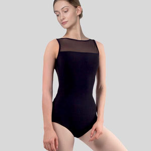 GRISHKO V-BACK W/MESH INSERT LEOTARD - ADULT #2075