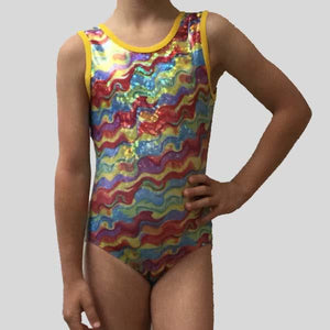MF WAVE PATTERN GYMNASTIC LEOTARD - CHILD #174