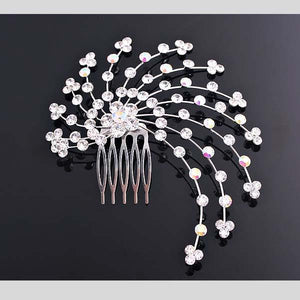 FH2 CRYSTAL & AB HAIR COMB - #CO0010