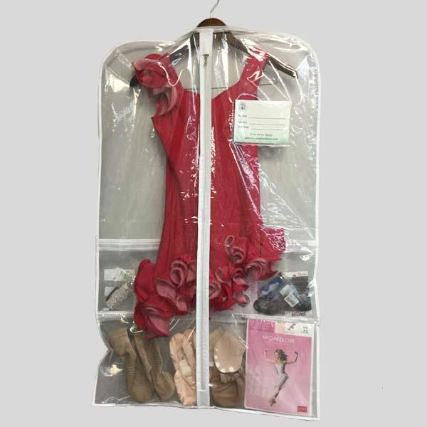 CLEAR GARMENT BAG FOR COSTUMES