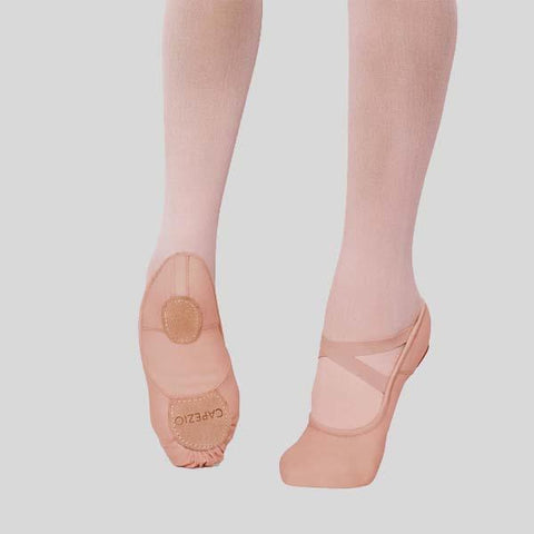 CAPEZIO HANAMI LIGHT SUNTAN BALLET SLIPPER - CHILD #2037C LSN