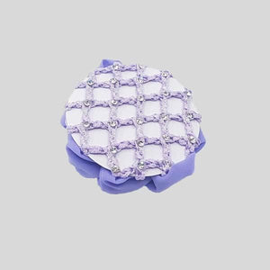 FH2 RHINESTONE CROCHET BUN COVER WITH CLIPS, LILAC - #AZ0033-3